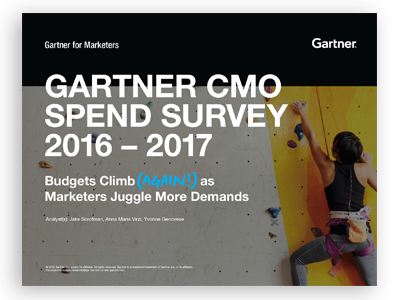 Gartner CMO Spend Survey 2016-2017
